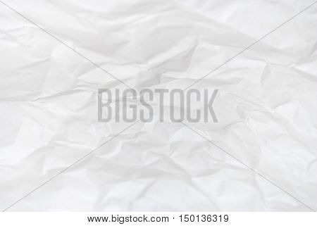 white wrinkled paper texture as abstract background