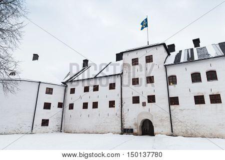 Turku Castle Bailey In Winter Day