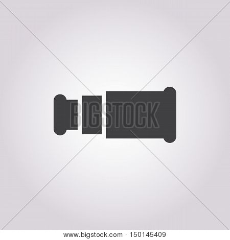 spyglass  icon on white background for web