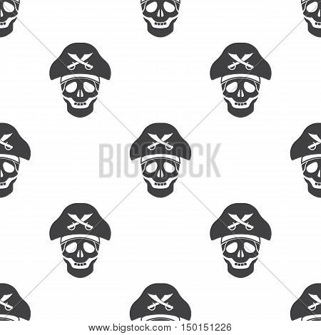 skull and saber icon on white background for web