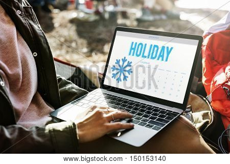 Winter Break Holidays Vacation Concept