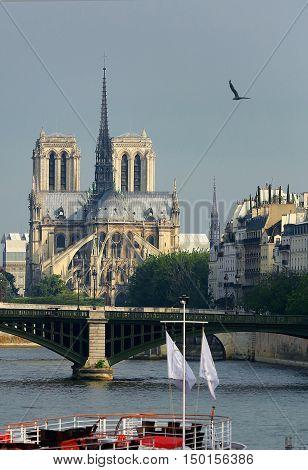 The a Notre Dame de Paris France