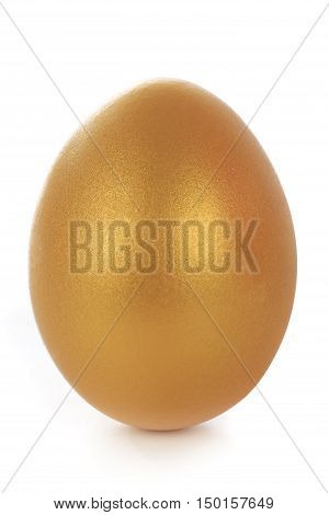 the a gold egg on a white background