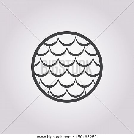 fish scales icon on white background for web