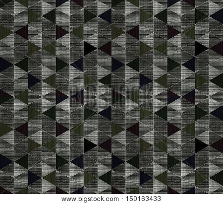 Black and white gray geometric sacral hexagon grunge textured art pattern