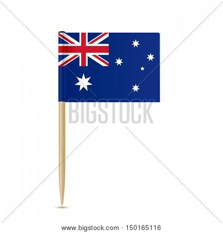 Australia flag toothpick on white background 10eps
