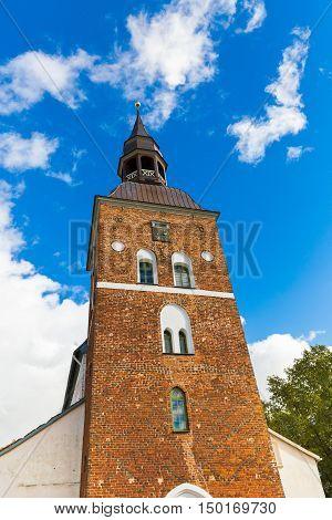 tower of St Simon church in Valmiera Latvia