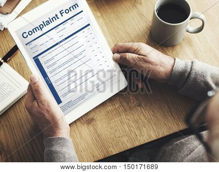 Complaint Form Connection Data Concept