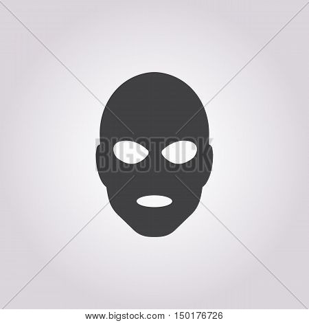 thief in mask icon on white background for web