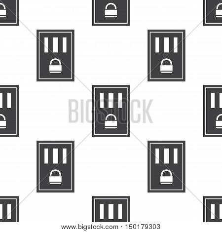 prison icon on white background for web