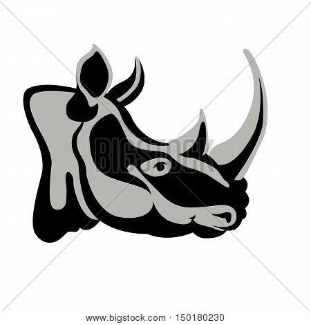 Rhino head vector illustration style Flat profile