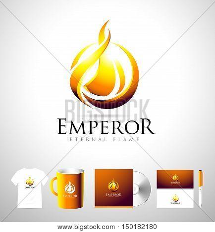 Flame logo icon template. Fire logo vector. Flames vector logo.