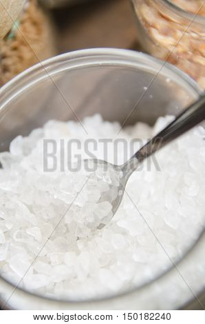 Various types of sugar brown sugar and white