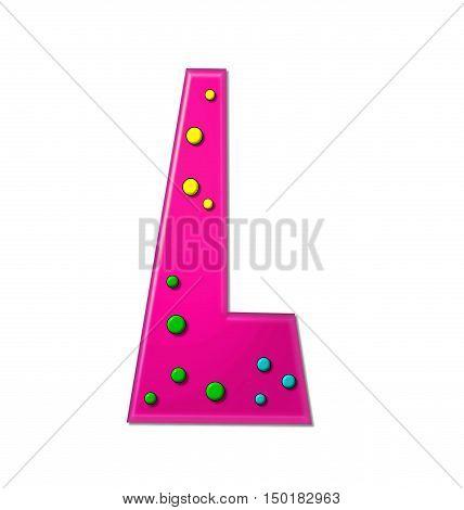 Alphabet Polka Dot Party L