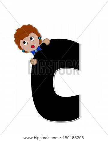 Alphabet Children Expressions C