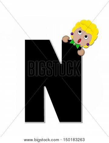 Alphabet Children Expressions N