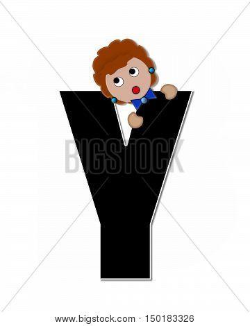 Alphabet Children Expressions Y