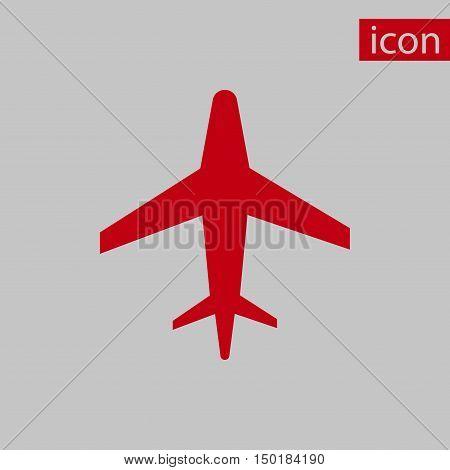 aircraft icon stock vector illustration flat design