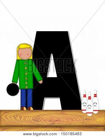 Alphabet Children Bowling Lane A