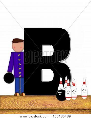 Alphabet Children Bowling Lane B