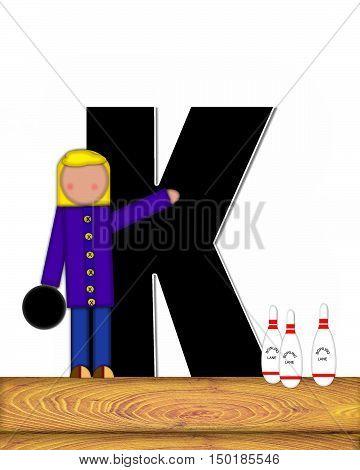 Alphabet Children Bowling Lane K