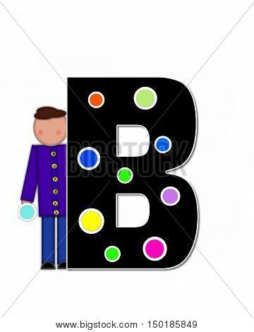 Alphabet Children Decorating Letters B
