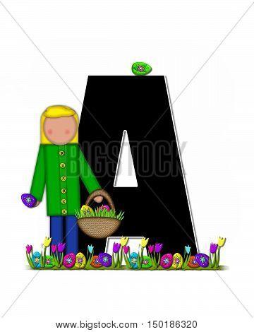 Alphabet Children Easter Egg Hunt A