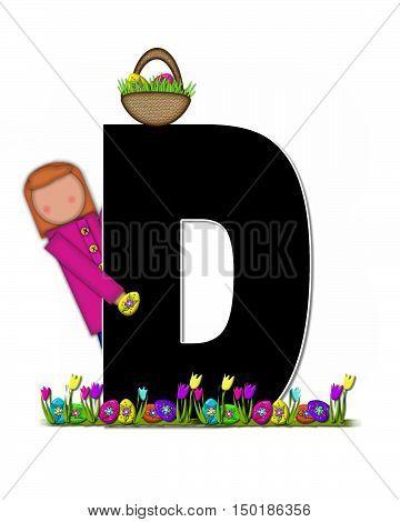 Alphabet Children Easter Egg Hunt D