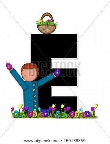 Alphabet Children Easter Egg Hunt E