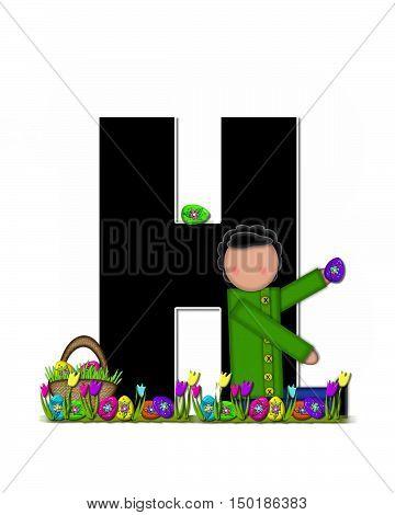 Alphabet Children Easter Egg Hunt H