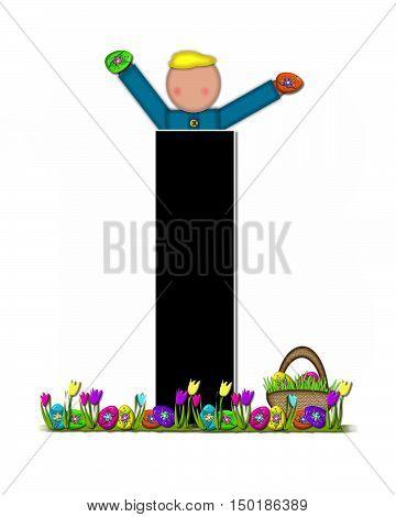 Alphabet Children Easter Egg Hunt I