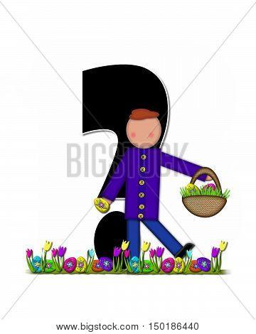Alphabet Children Easter Egg Hunt Question