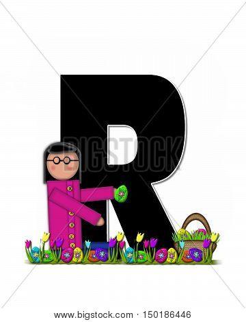 Alphabet Children Easter Egg Hunt R
