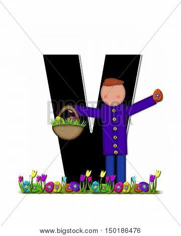 Alphabet Children Easter Egg Hunt V