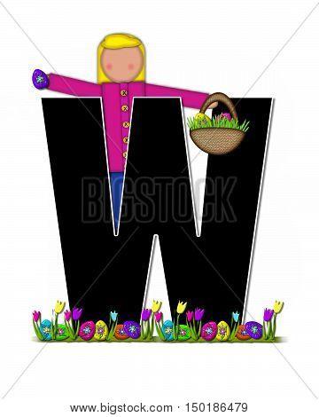 Alphabet Children Easter Egg Hunt W