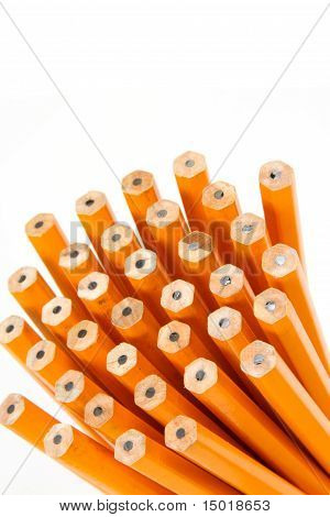Group of Unsharpened Pencils