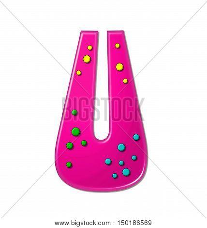 Alphabet Polka Dot Party U