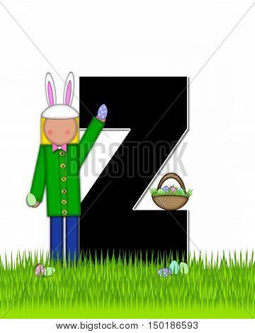 Alphabet Children Easter Eggs Z