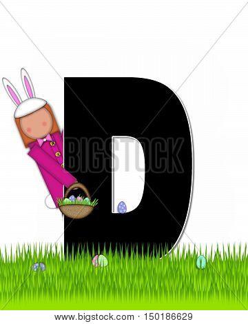 Alphabet Children Easter Eggs D
