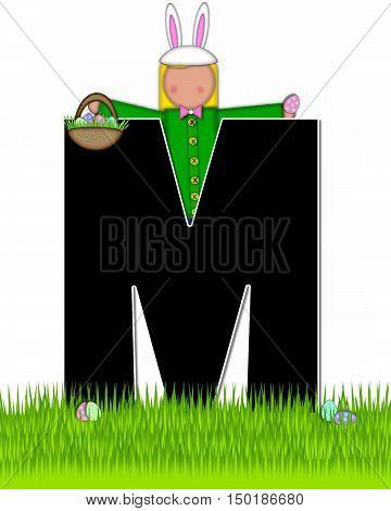 Alphabet Children Easter Eggs M