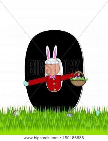 Alphabet Children Easter Eggs O