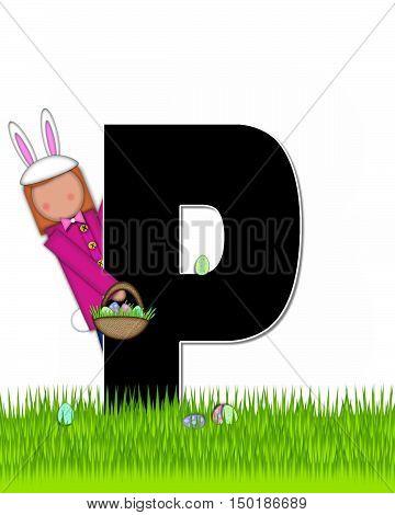 Alphabet Children Easter Eggs P