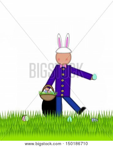 Alphabet Children Easter Eggs Period