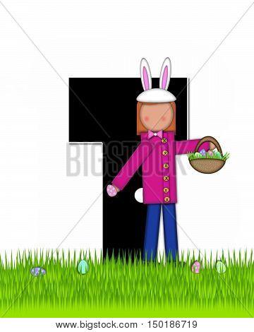 Alphabet Children Easter Eggs T