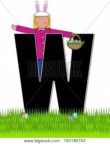 Alphabet Children Easter Eggs W