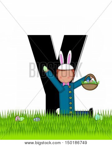 Alphabet Children Easter Eggs Y