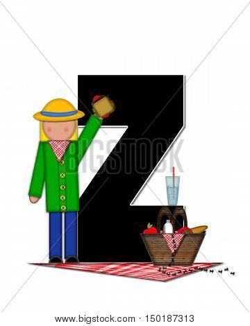 Alphabet Children Picnic Z