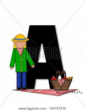 Alphabet Children Picnic A