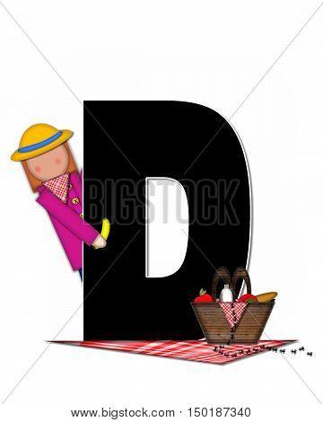 Alphabet Children Picnic D