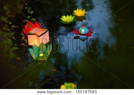 East tradition of floating paper lanterns
